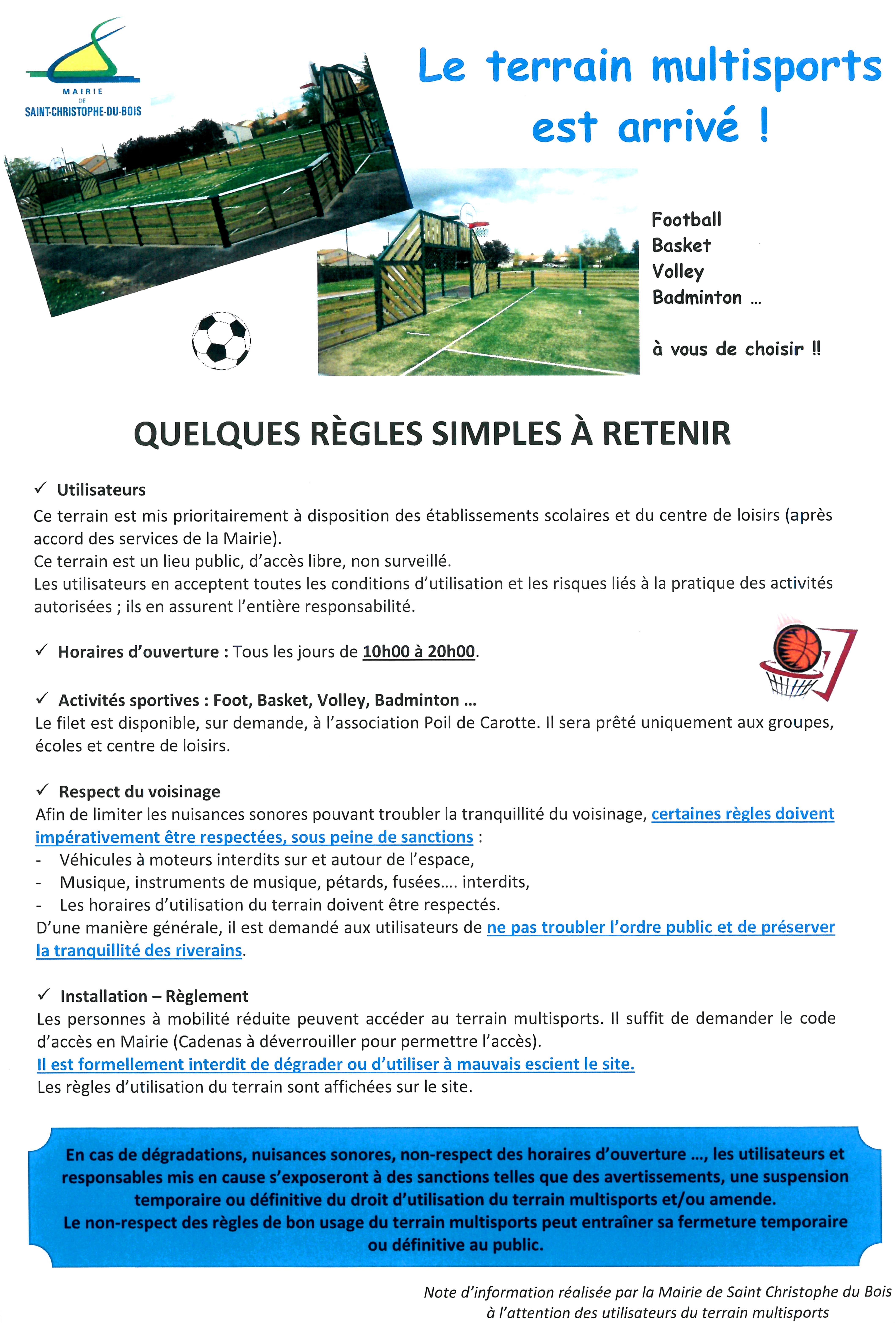 Règlement City Stade