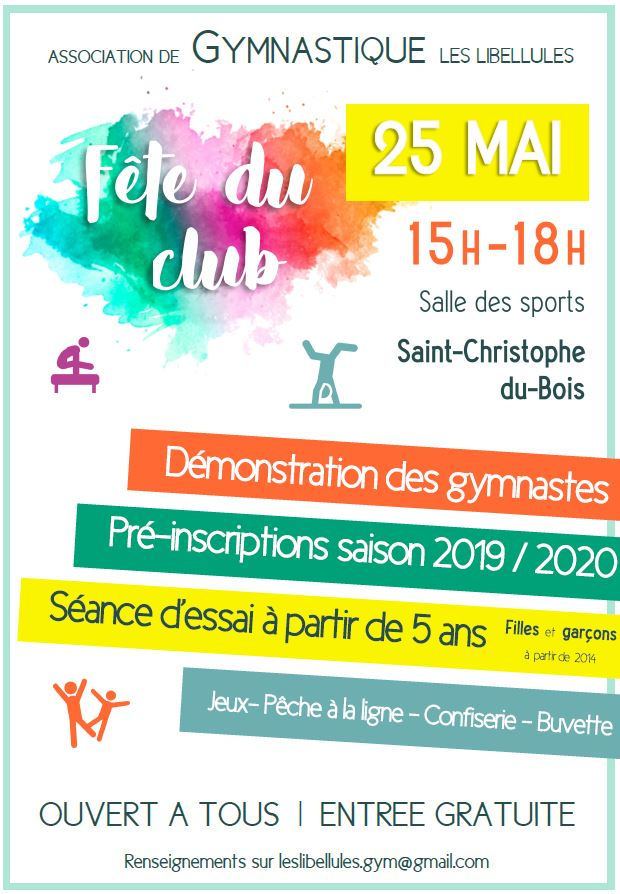 gymnastique – fête du club | site officiel de saint-christophe-du-bois