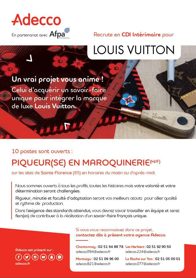 recrutement Louis Vuitton