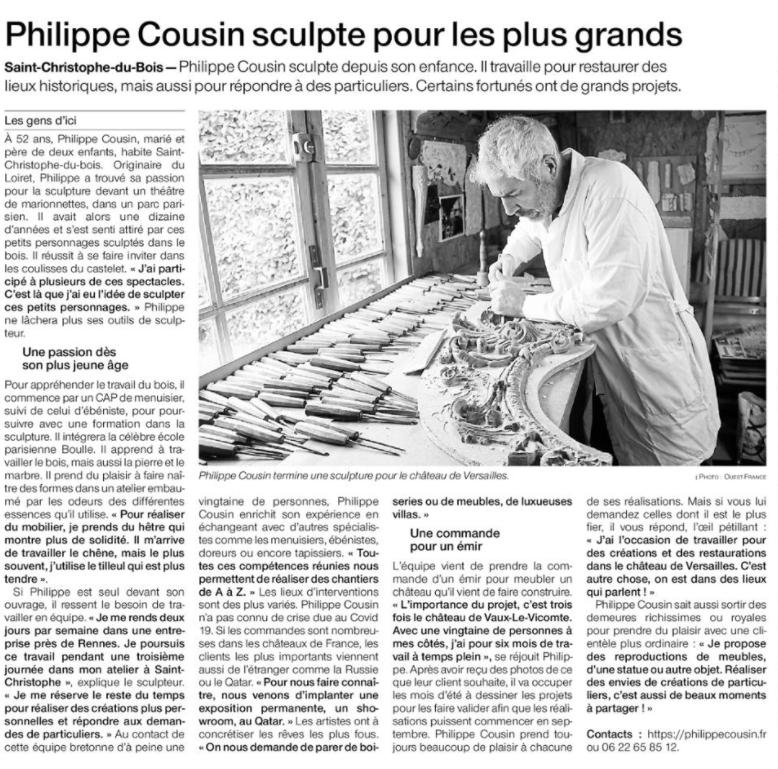 OF 12.07.21 Ph.COUSIN sculpte pour les plus grands