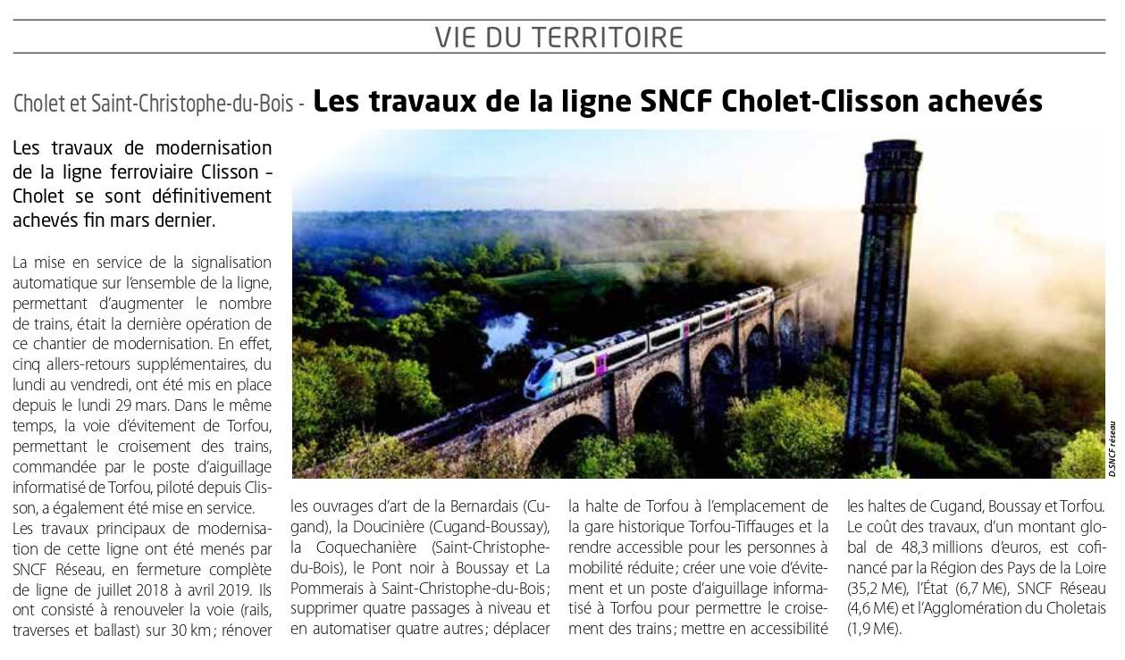 Synergences 578- Les travaux de la ligne SNCF Cholet-Clisson achevés